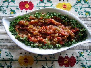 Binnur's Turkish Cookbook: Roasted Eggplant, Green Pepper & Tomato Di...