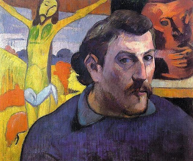 Paul Gauguin 1889 Self Portrait with Yellow Christ - pc