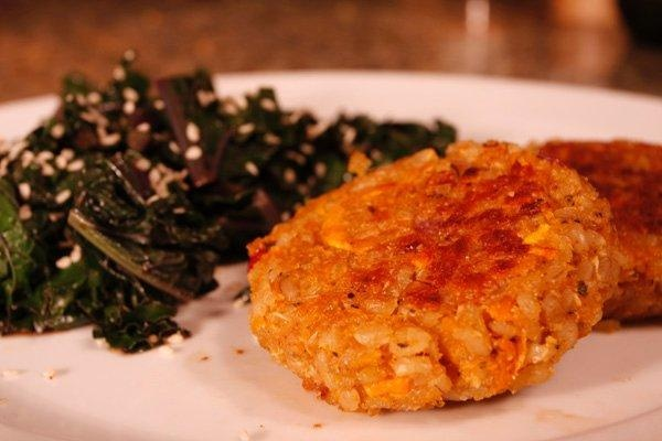 Sweet Potato Patties - simple, fantastic! Can use either cooked quinoa ...