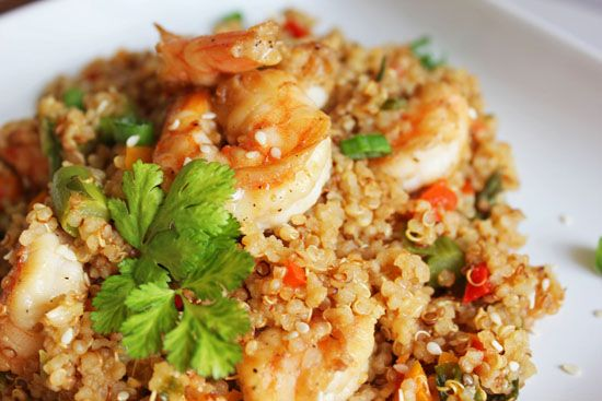 Toasted #Quinoa Sesame Shrimp Salad