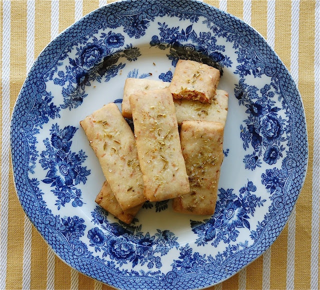 Parmesan Shortbread with Fennel and Sea Salt