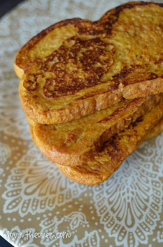 Pumpkin Pie French Toast - Lovin' From The Oven