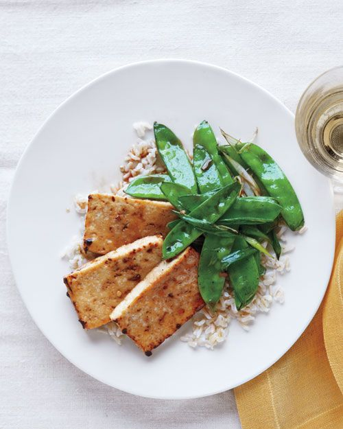 BROILED TOFU AND SNOW PEAS http://www.marthastewart.com/355203/broiled ...