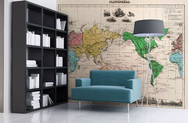 30 world map decorating ideas my new home pinterest