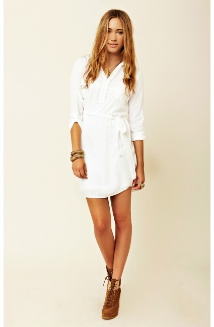 Splendid white shirt dress dresses pinterest for White non iron dress shirts