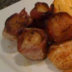 bacon bacon wrapped pretzels marinated scallops wrapped in bacon ...