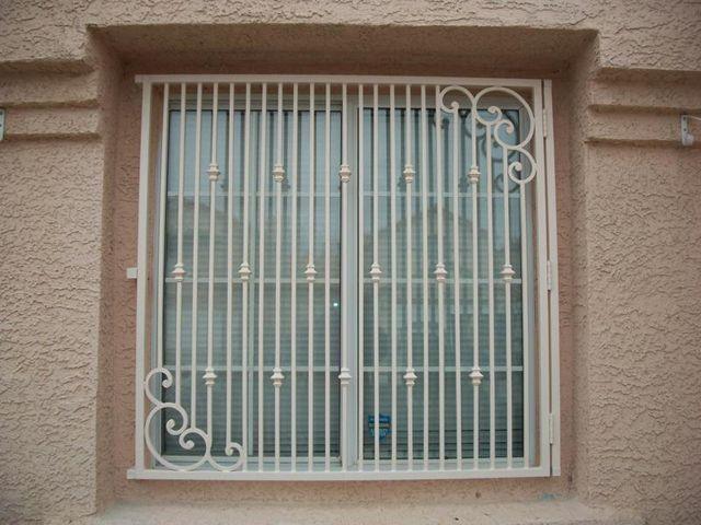 Security screen doors window bars