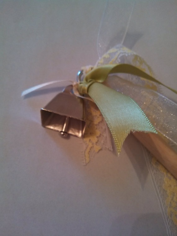 Wedding Ribbon Wands with Cow Bells by CustomCandlesandMore, $20.00
