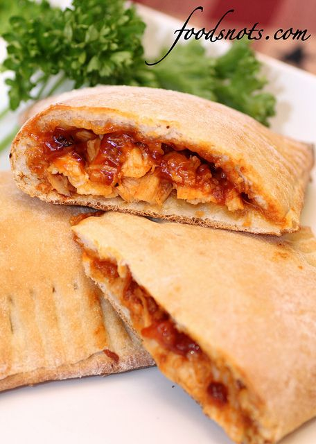 Barbecue Chicken Calzones by Food Snots | Recipes | Pinterest