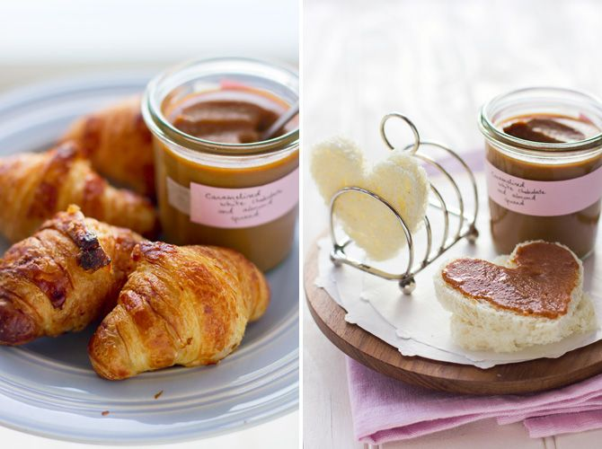 Caramelized white chocolate and almond spread - this would make for ...