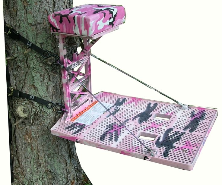 Pink camo tree stand