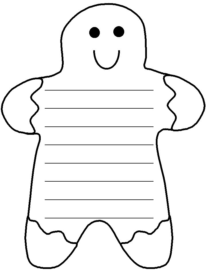 gingerbread writing paper 2 documents using simple instruction words - eg 3/ 4 word instructions 1 sheet is blank for the children to write on, 1 has instructions that they could copy or.