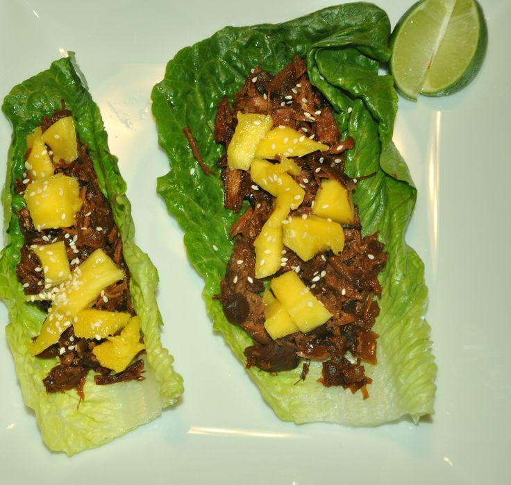 summer crock pot recipes mango chicken lettuce wraps   Randomness Blog ...
