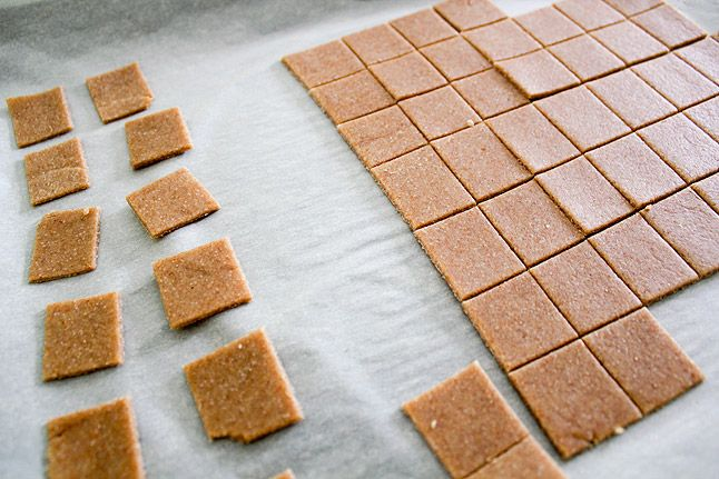 Homemade Wheat Thins! No High Fructose Corn Syrup :)