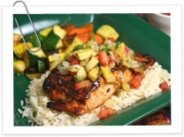 salmon with pineapple salsa | Getting Healthy | Pinterest