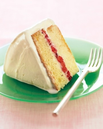 I'd be selfish and make Martha bring me this Inside-Out Strawberry Ice-Cream Cake for just ME.
