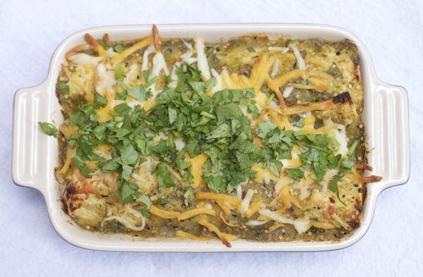 Chicken Enchiladas verdes | YUM! | Pinterest
