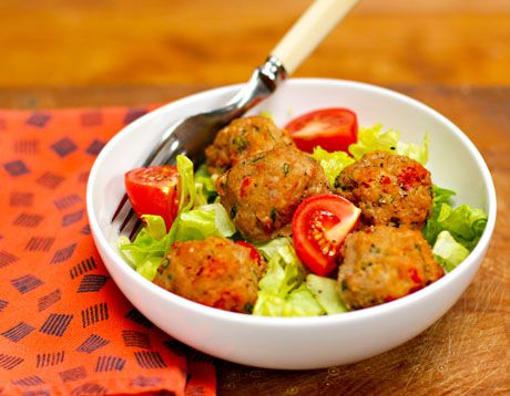 Italian turkey meatballs with sun-dried tomatoes and basil, from The ...