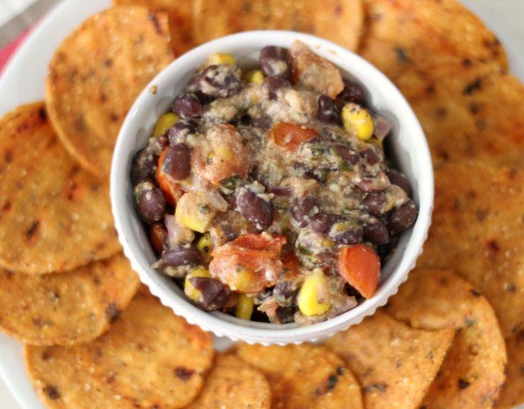 ... bean dip # teamtbc fresh chunky cheesy southwestern seasoned hot bean