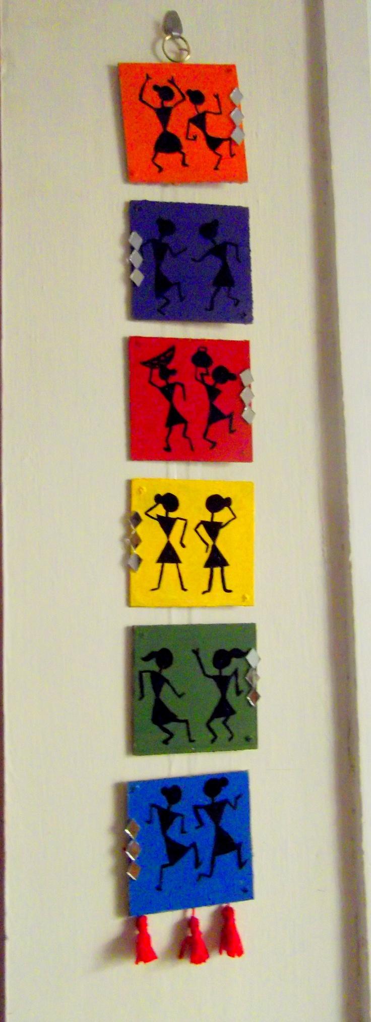 Warli wall hanging amazing warli art pinterest for Wall hanging painting designs