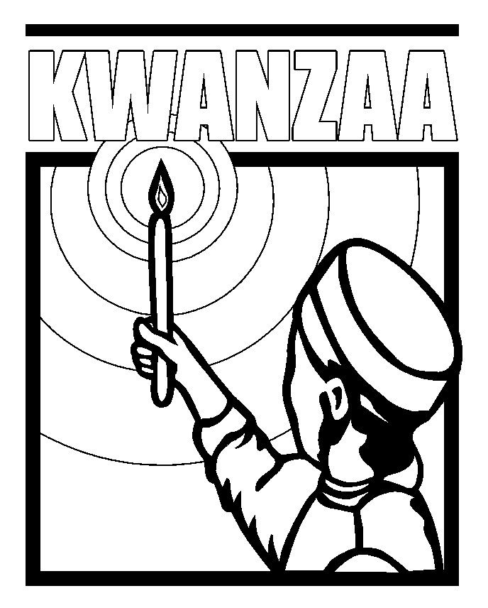 Kwanzaa Coloring Page Thinking Day Ideas Pinterest Coloring Pages Kwanzaa
