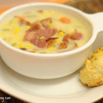 Corn Chowder with Cheddar Biscuits | Best recipes | Pinterest