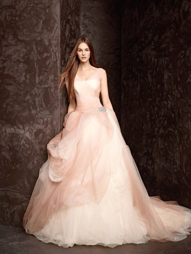 Pink Wedding Dresses David S Bridal : Davids bridal blush ombre gown gowns