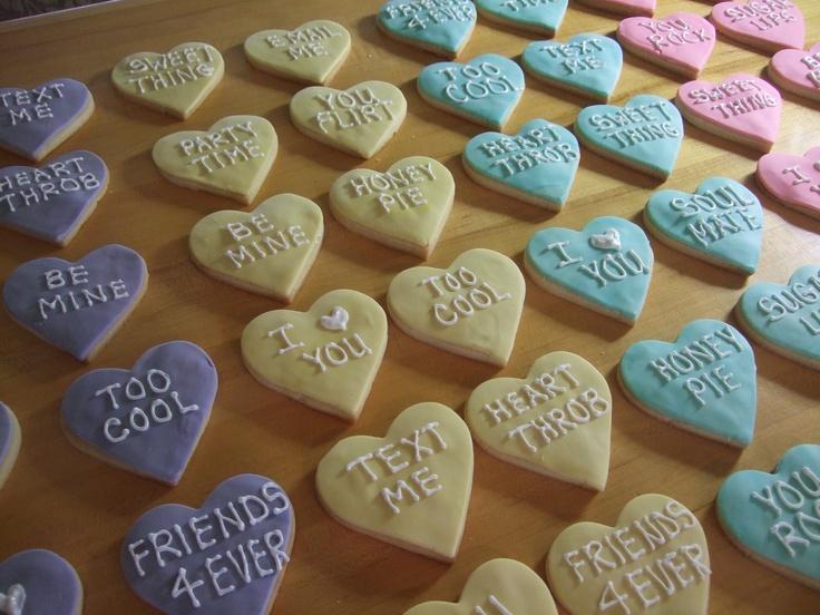 Conversation Heart Cookies | PWOC program ideas | Pinterest