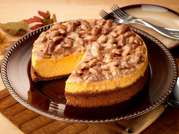 Praline Pumpkin Cheesecake: substituted sweet potato instead of ...