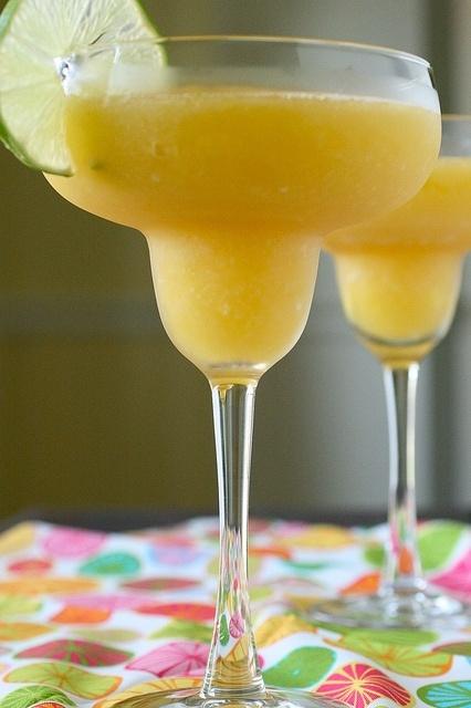 frozen mango margaritas | YUM | Pinterest