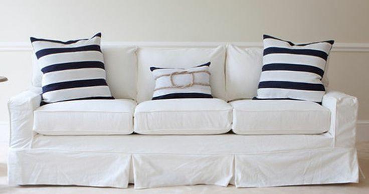 white slipcovered sofa h o m e d e c o
