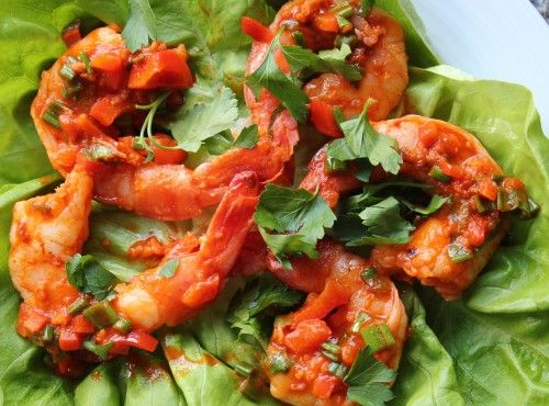 Paleo Sriracha Lime Shrimp Wraps | Clean Eats | Pinterest