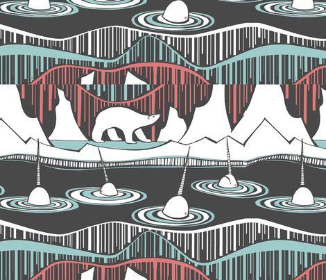Arctic Deco fabric by ceanirminger on Spoonflower - custom fabric