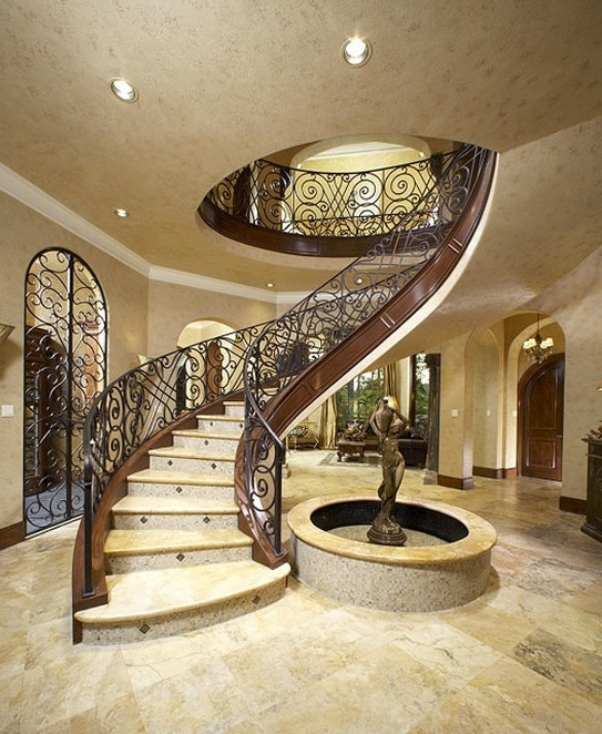 Amazing Foyer Love The Dark And White Wood Together: Amazing Elegant Stair Case