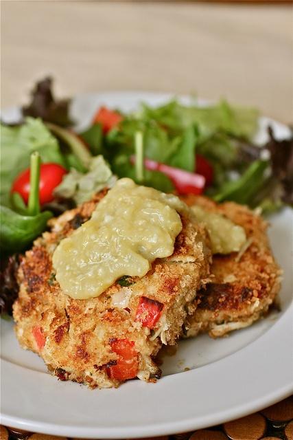 Crab Cakes With Tomatillo California Avocado Salsa Recipes ...