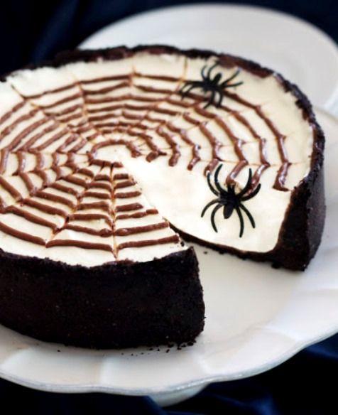 No-Bake Spiderweb Cheesecake , 46 Awesome Halloween Recipes