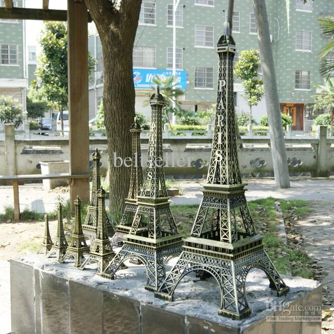 ... Tower Model Alloy Eiffel Tower Desk Table Office Home Decoration