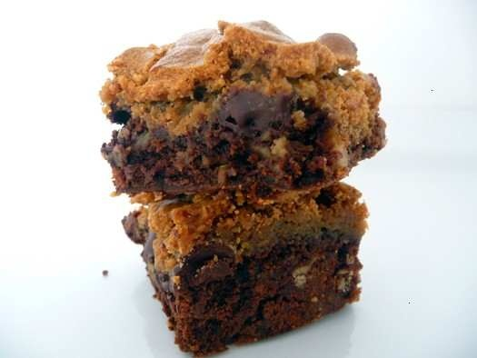 Chocolate chip cookie topped brownies | Yumminess - Sweet | Pinterest