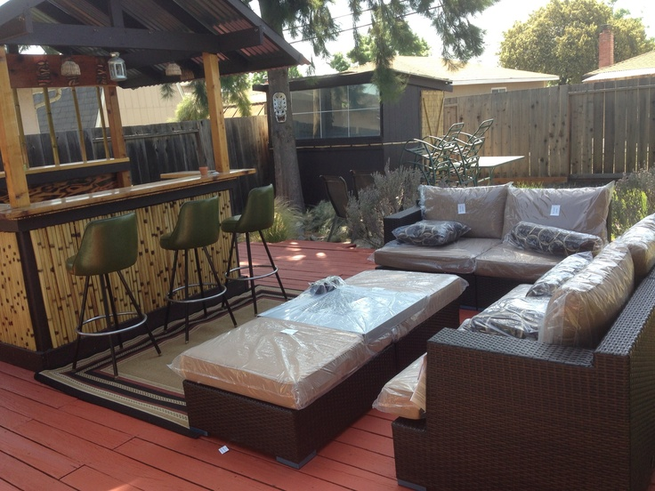 Backyard Tiki Bar Plans : My backyard tiki bar and deck  Tiki bar patio ideas  Pinterest