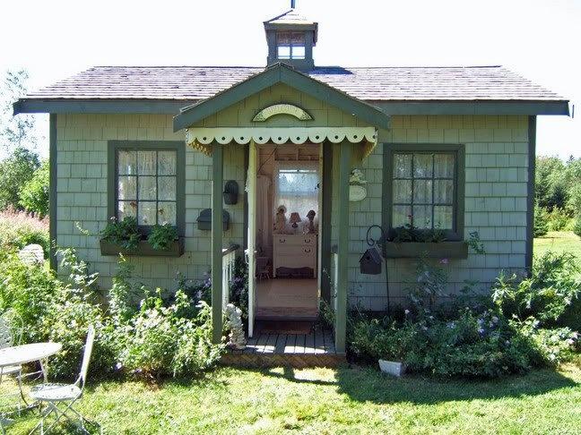 Cute Backyard Sheds : would be a cute garden shed  Lawn, Outdoor & Gardening Ideas  Pinte