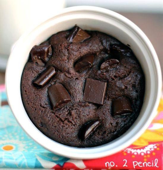 Microwave Chocolate Cake in a Mug Recipe | Uh nom nom nom | Pinterest