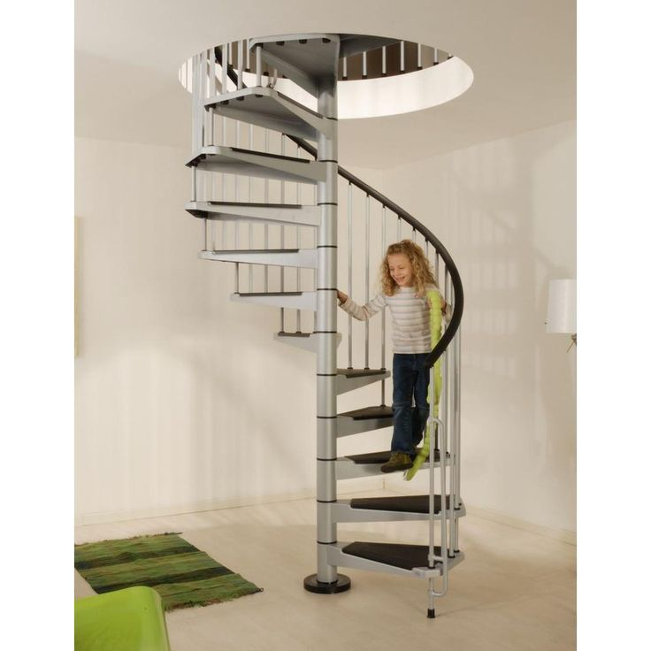 Pin by tiffany renner sierras on modern metal pinterest for 4 foot spiral staircase