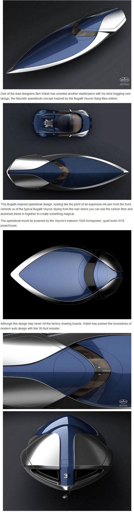 bugatti veyron sang bleu speedboat zoom zoom pinterest. Black Bedroom Furniture Sets. Home Design Ideas