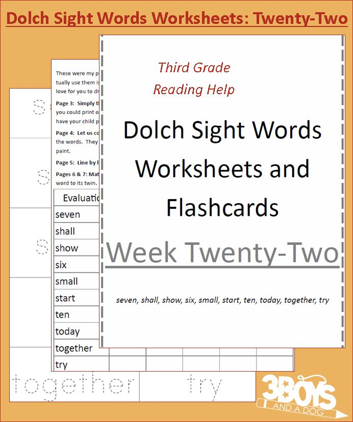 handwriting Week sight Sight dolch 22  worksheets Dolch Words Worksheets: word