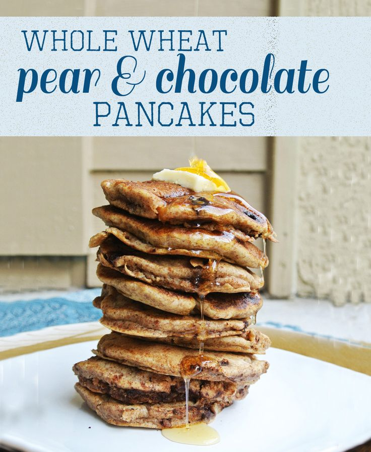 PANCAKE FRIDAYS: WHOLE WHEAT PEAR AND CHOCOLATE PANCAKES