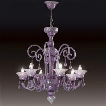 lampadario lilla : Lampadario Nuvola 6 Luci Lilla glicine ..e variazioni Pinterest