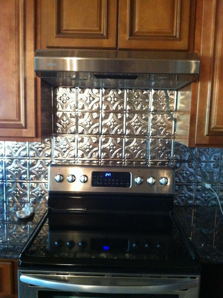 tin backsplash log home kitchen dining pinterest