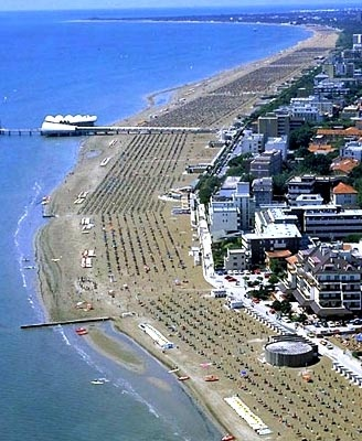 Lignano, Italy~The beach we went to most often.
