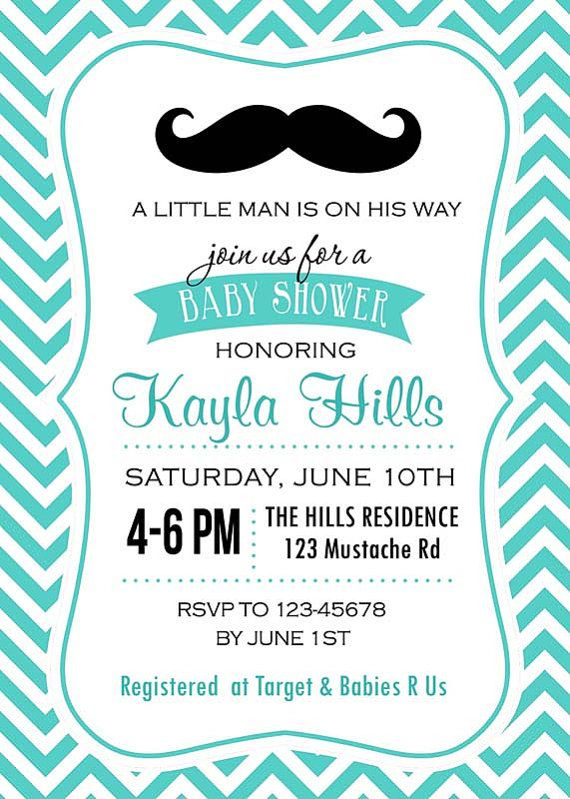 printable mustache baby shower invitations images