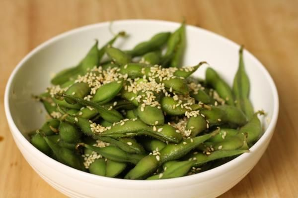 edamame with soy sauce and sesame seeds | Sides-- Cause every main ne ...